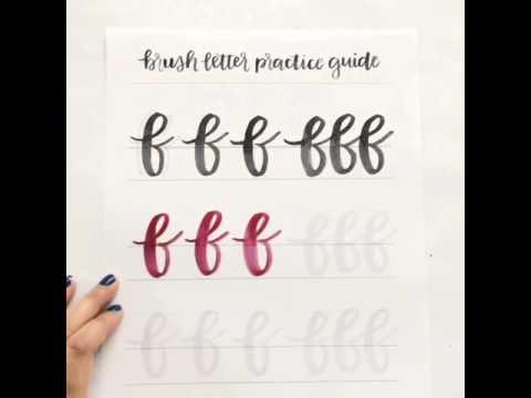 Brush lettering lowercase f youtube