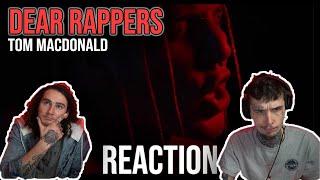 A STATEMENT!   DEAR RAPPERS - TOM MACDONALD   REACTION + BREAKDOWN