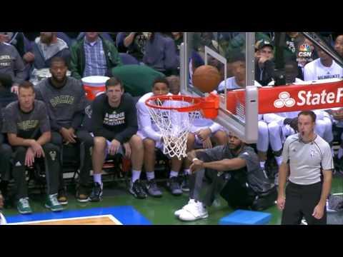 Cristiano Felicio Putback Slam  Bulls vs Bucks  October 15, 2016  2016 17 NBA Preseason
