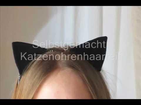 Katzenohren Haarreif Selbstgemacht Youtube