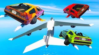 HACKING A CARGO PLANE WITH FLYING CARS! (GTA 5 DLC)