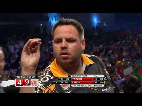 WHAT A MATCH! Phil Taylor v Adrian Lewis - Auckland Darts Masters 2016