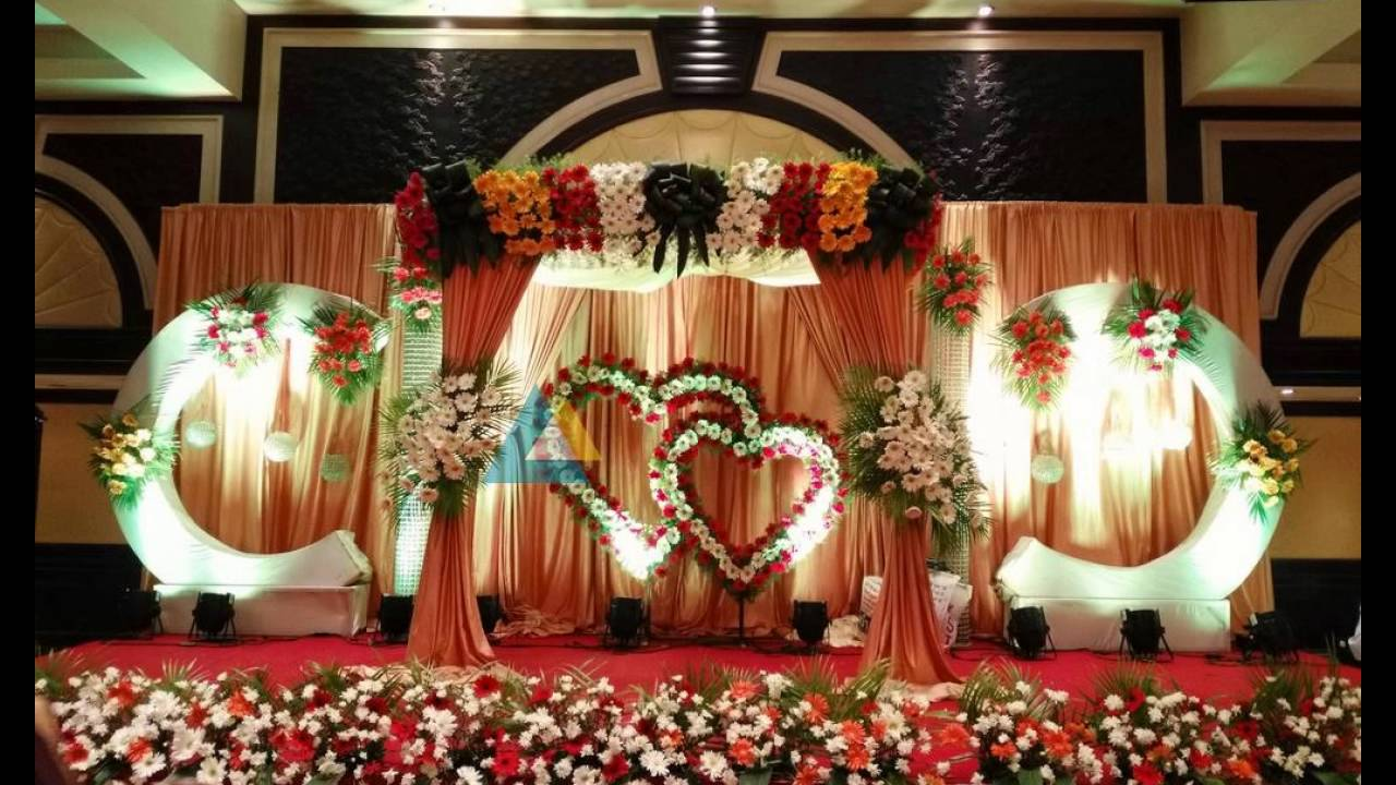 Wedding Reception Stage Decoration Photos