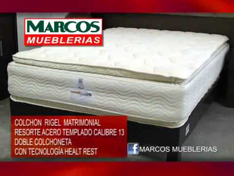 COLCHONES BARATOS EN MARCOS MUEBLERIAS - YouTube