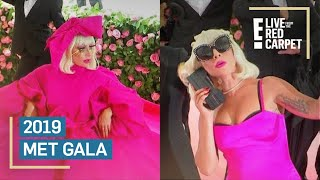 Lady Gaga's Epic Entrance at 2019 Met Gala Red Carpet | E! Red Carpet & Award Shows