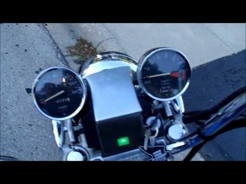 1983 Honda Shadow VT750c Lights, Sound, and Ride - YouTube