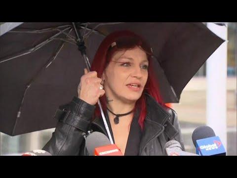 Rori Hache's mother speaks outside Oshawa courthouse