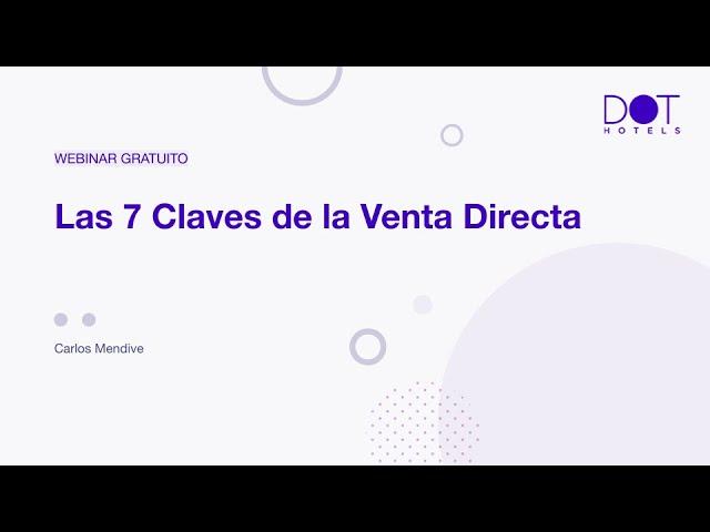 """Webinar: """"Las 7 claves de la Venta Directa"""""""