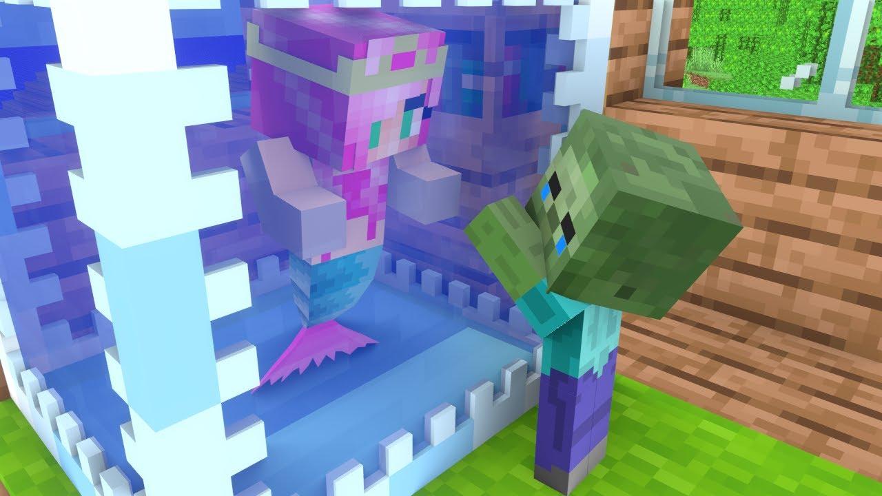 Monster School : BABY MERMAID AND BABY ZOMBIE - Sad Minecraft Animation