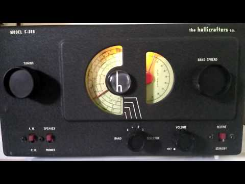 Vintage Hallicrafters S-38B Tube Radio - Caribbean Beacon from Anguilla @ 6090 kHz