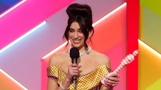 video: Brit Awards 2021: Dua Lipa dominates in a ceremony blasting out the return of live music