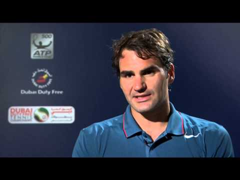Dubai 2014 Friday Interview Federer