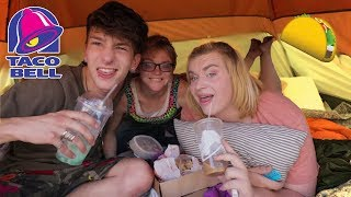 Taco Bell Mukbang with HOMELESS KIDS!