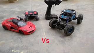 Rc ferrari vs Rc monster truck// Tug of war