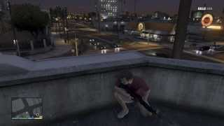 GTA V - 5 Star Wanted Level Shoot Out - Perfect Hiding Spot! [NO SPOILERS]