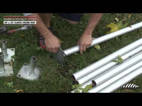 20\' x 20\' Classic Frame Tent - Installation Procedure