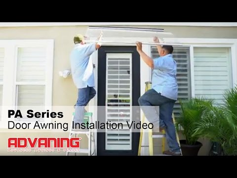 Advaning | PA Series Door/Window Polycarbonate Awning Installation Video