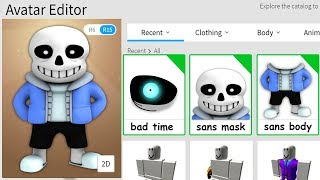 MAKING SANS A ROBLOX ACCOUNT!!
