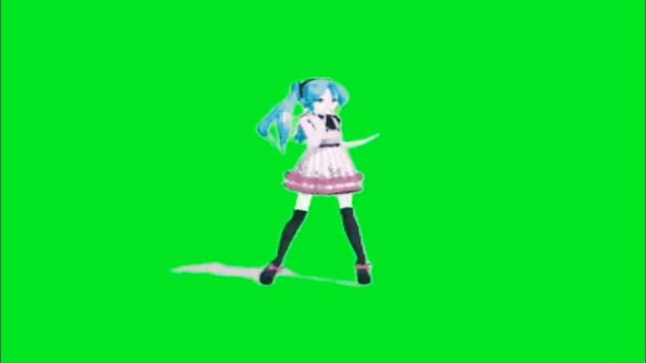 dance green screen anime