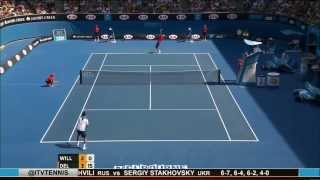 Rhyne Williams vs Juan Martin del Potro (2014 AO)