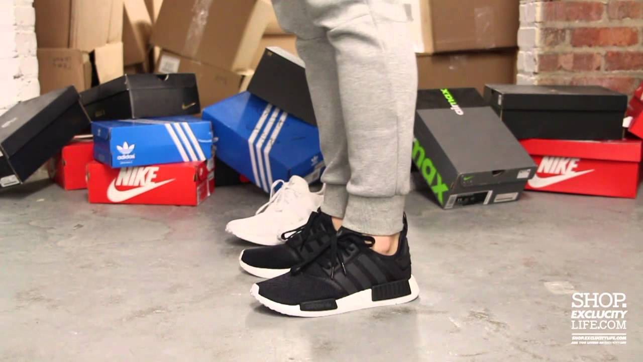 pretty nice c6f92 55047 Adidas NMD Runner Black White On-feet Video at Exclucity