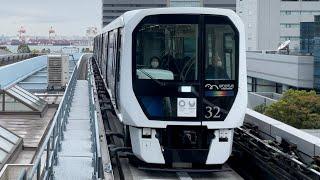 【東京五輪2020ラッピング】ゆりかもめ7300系第32編成『7321編成』が到着するシーン