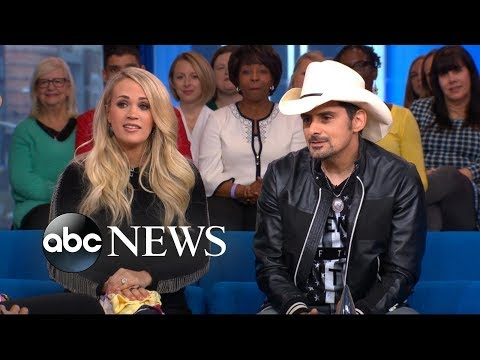 Carrie Underwood and Brad Paisley play a game of 'Country Grammar' on 'GMA Day'