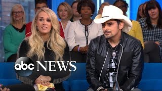 Carrie Underwood and Brad Paisley play a game of
