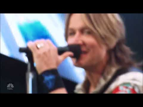 """Keith Urban sings """"Never Comin Down"""" Live in Concert 2018 HD 1080pti U Tour."""