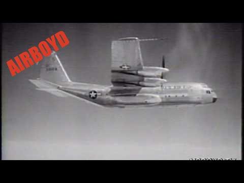 Lockheed C-130 Hercules Test Flight (1955)