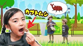 食べれるクワガタとカブトムシ!おかしな昆虫キャンディ