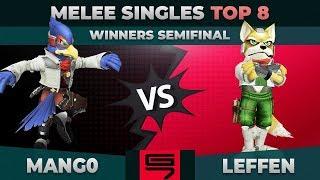 Mang0 vs Leffen - Winners Semifinal: Top 8 Melee Singles - Genesis 7 | Falco vs Fox
