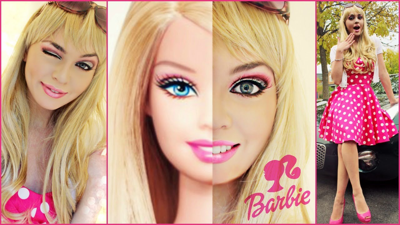 barbie makeup tutorial costume idea halloween 2014 jackie wyers youtube