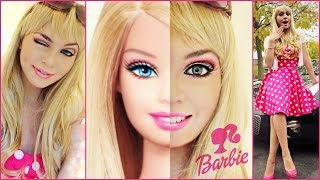 Barbie Makeup Tutorial & Costume Idea! Halloween 2014 - Jackie Wyers Thumbnail