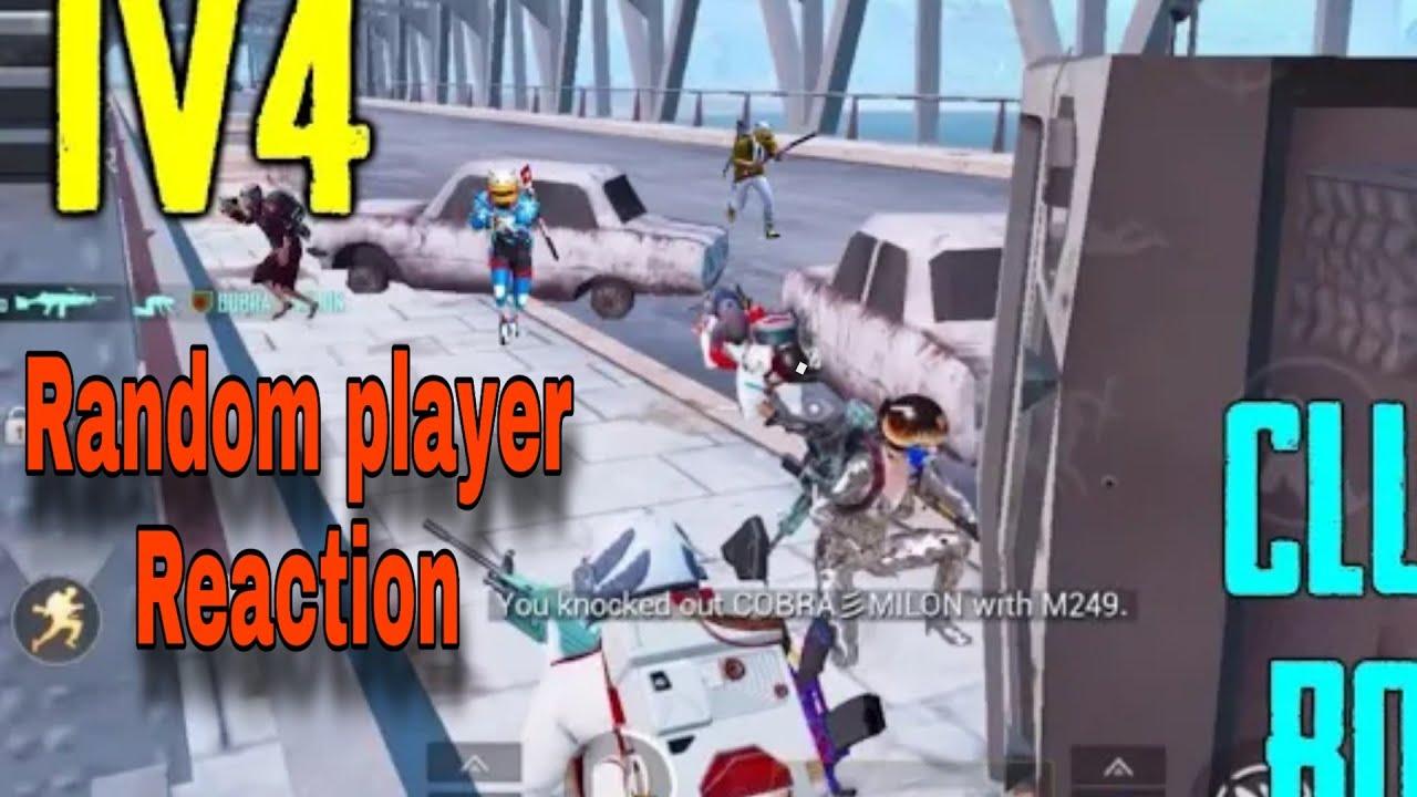 1v4 | Saved Random Player|Pubg Mobile | Pubg Unban