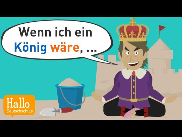 Deutsch lernen | Konjunktiv 2 einfach erklärt mit Beispielsätzen! | Grammatik A2