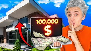 I HID $100,000 IN A HUGE MANSION !!