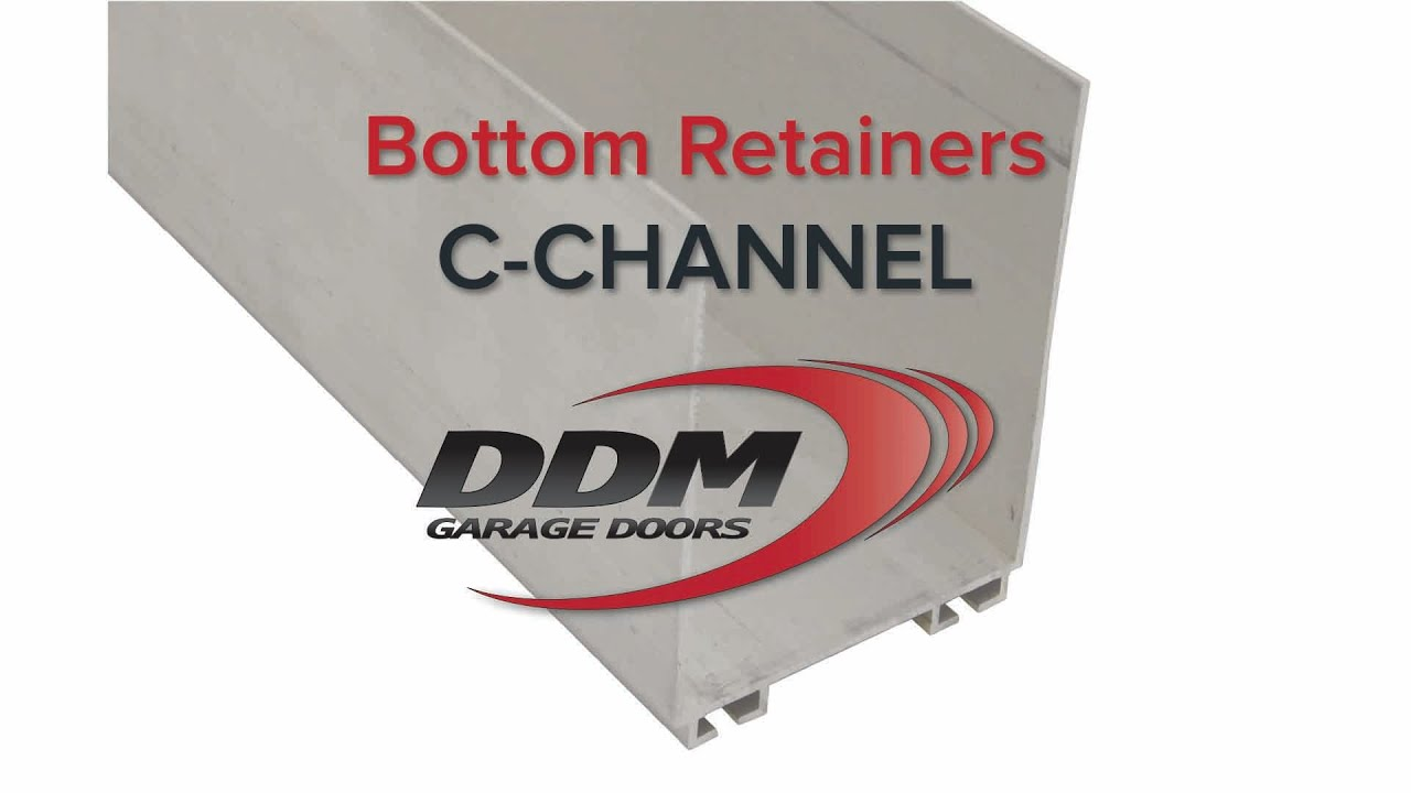 Garage door bottom seal retainers c channel youtube garage door bottom seal retainers c channel rubansaba