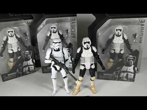 Unboxing Scout Trooper Archive The Black Series Hasbro Star Wars Figura De Acción