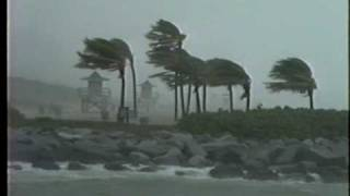 Hurricane Irene Slams Bal Harbour with 80 MPH Gusts - Oct.1999