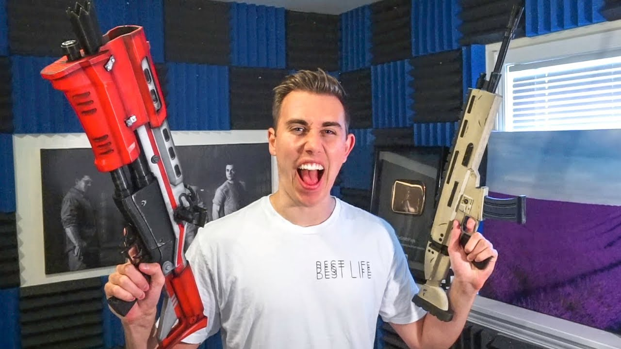 FORTNITE WEAPONS IN REAL LIFE (2 Million Subscriber Special) - YouTube