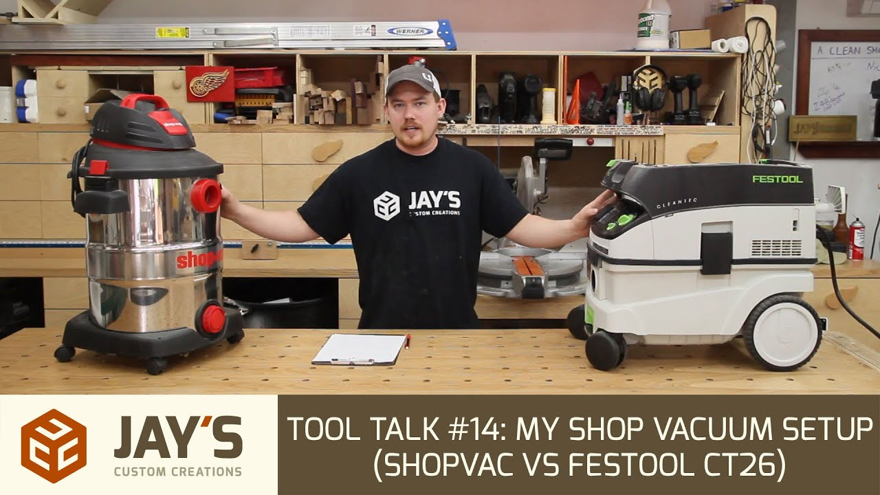 Tool talk 14 my shop vacuum setup shopvac vs festool ct26 youtube keyboard keysfo Images