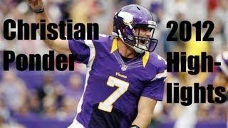 """""""The Leader"""" Christian Ponder Highlights 2011-12 (Minnesota Vikings)"""