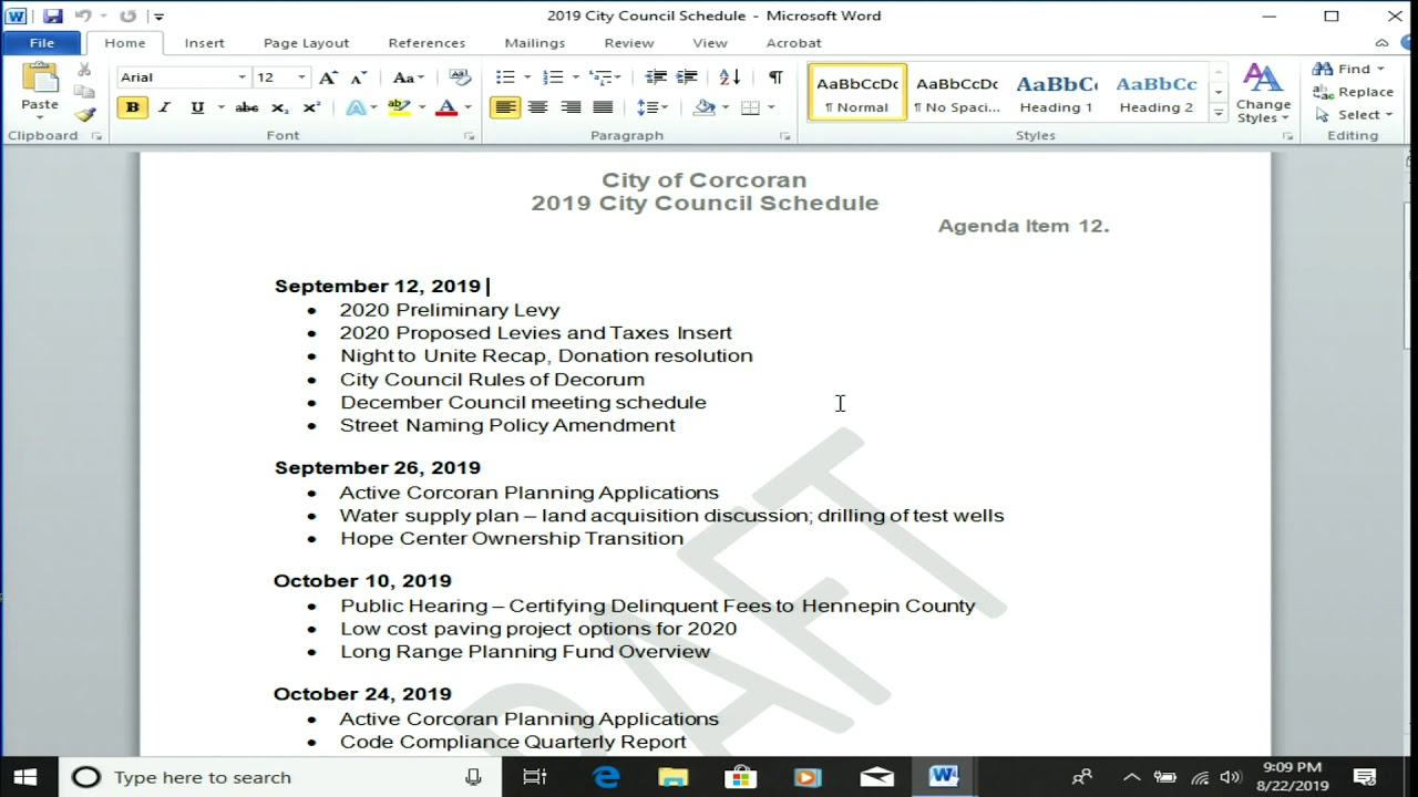 View Council Meetings -- Most Recent - City of Corcoran