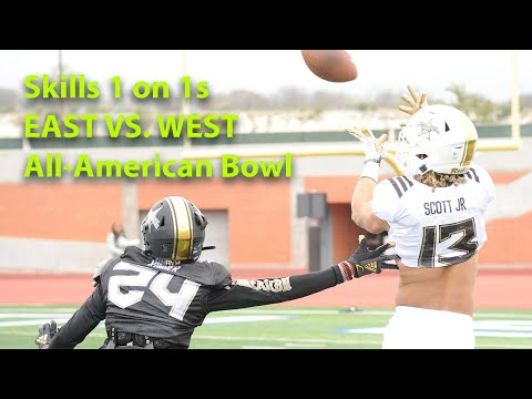 All-American Bowl: Skills 1-on-1s (East Vs. West Joint Practice)