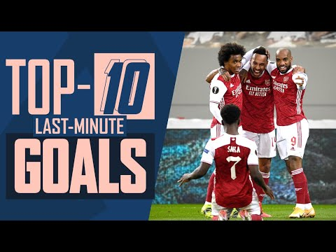 Late drama!  |  Arsenal's top 10 last minute goals ranking |  Henry, Kano, Bendtner, Aubameyang and others