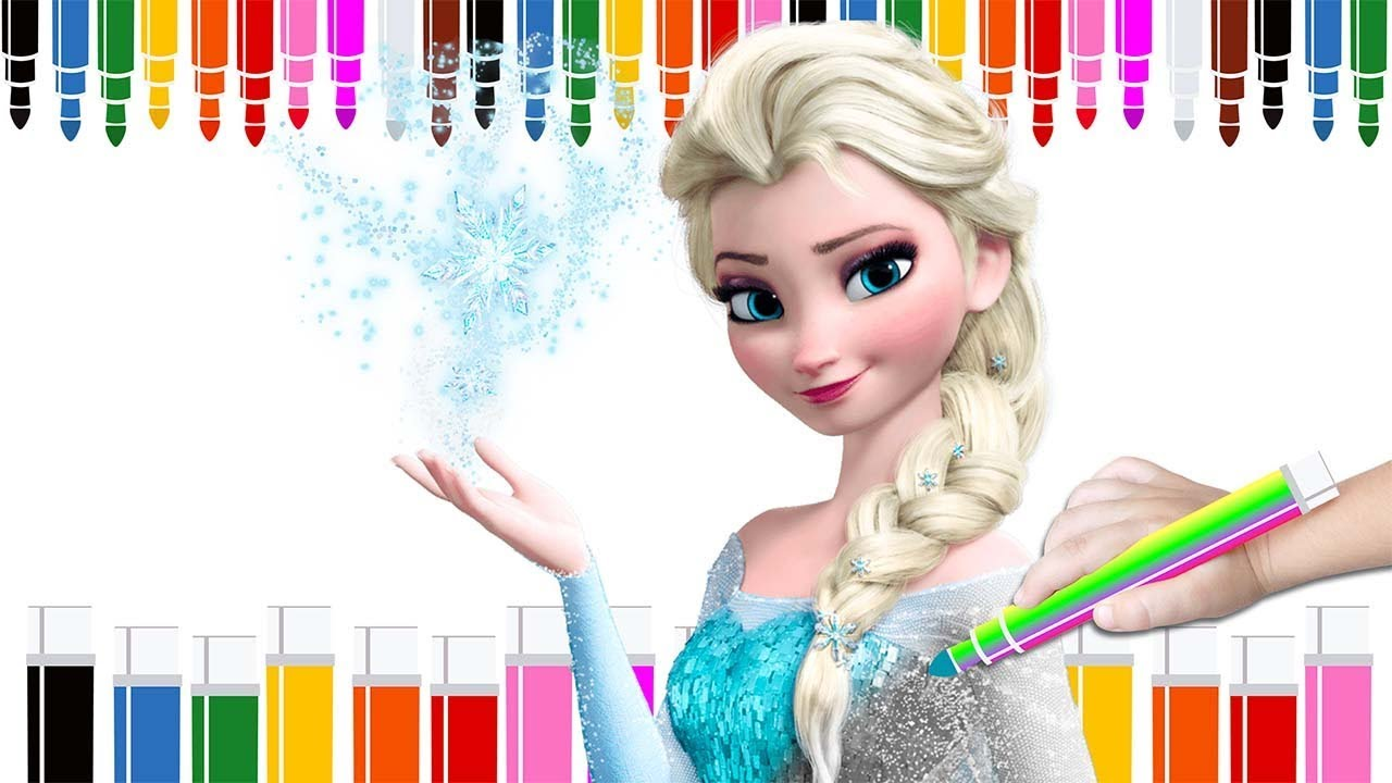 JUEGO DE COLOREAR A FROZEN Coloring Page Book Game Video For Kids