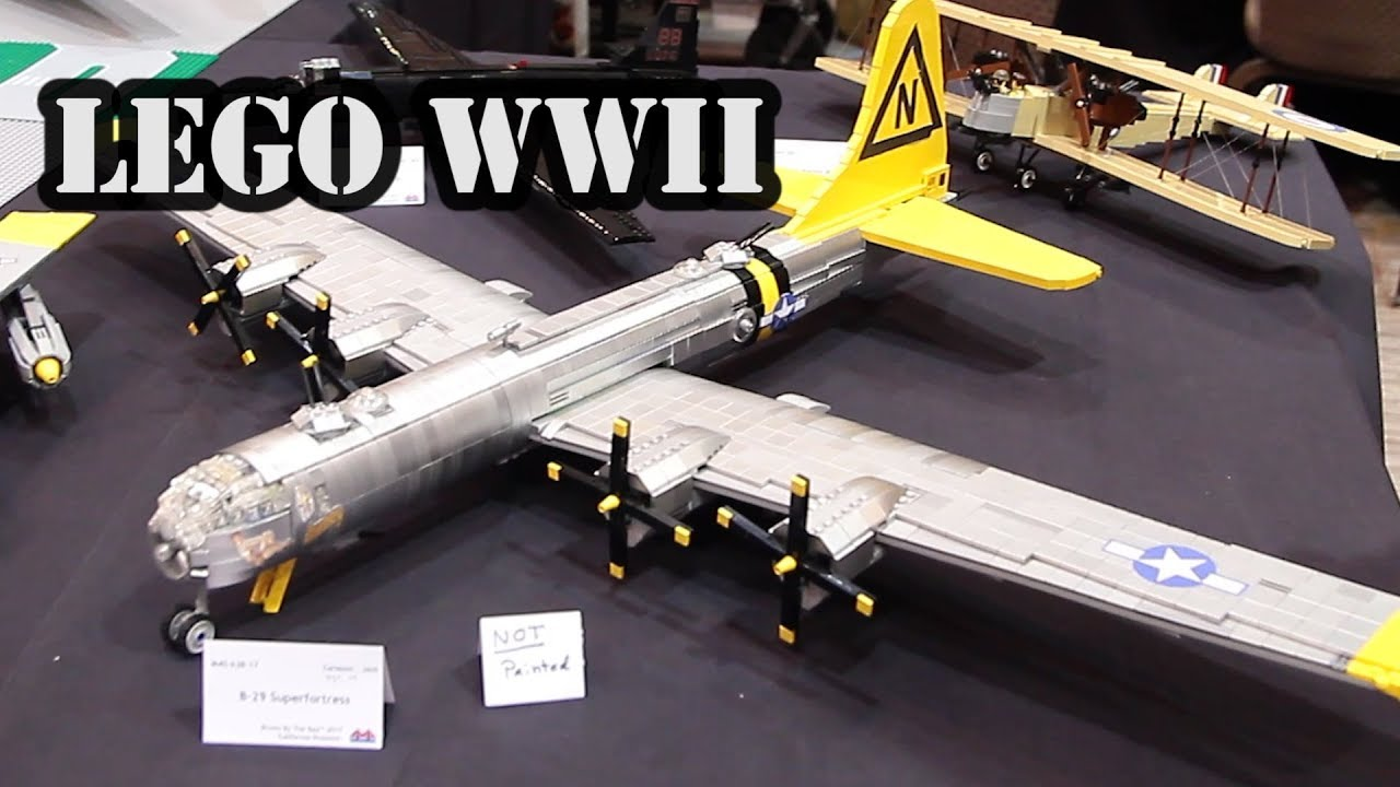 lego b29 superfortress heavy bomber wwii airplane youtube