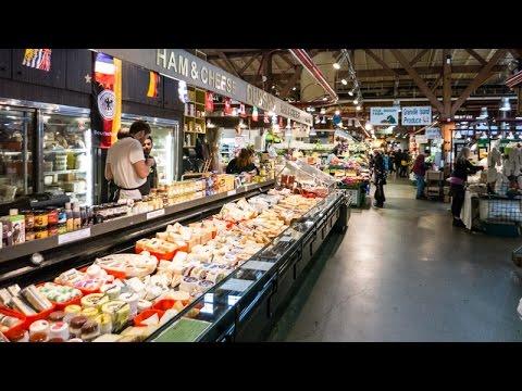 Wandering around Granville Island Public Market, Vancouver, BC, Canada