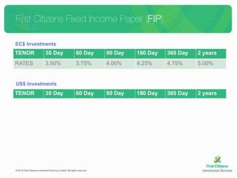 Investment Opportunities with First Citizens (St. Lucia)